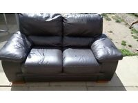 X2, 2 seater Brown Leather Couches
