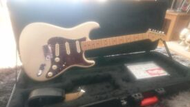 2013 Fender American Deluxe Stratocaster - Olympic Pearl w/ Maple Neck & Hard Case