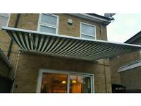 Manual Awning sun shade retractable patio