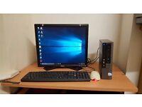 Ultra Small Complete Dell Desktop Computer Wifi Windows 10 Office 4GB RAM Wifi
