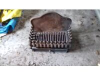 CAST IRON FIRE GRATE VGC WITH TRAY AND FRONT PLATE, BLAKENEY GLOUCESTERSHIRE