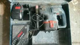 Bosch hammer sds plus 24v full working order comes with box and 2 batteries