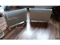 2 Electric White Heaters