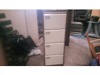 4 drawer filing cabinet coffee and creme
