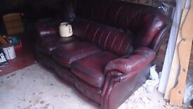 3 seater leather sofa chesterfield