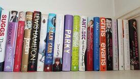 Auto-biographies. A range of 34 hard back autobiography books
