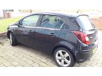 Vauxhall Corsa 1.2 SXi, Alloy Wheels,Genuine Low Mileage, FSH, 12mths MOT, Black, 5dr hatch, VGC