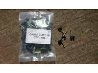 Black round 4mm cable clips.