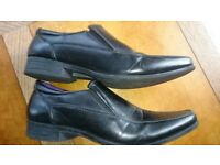 Caravelle Men's Flex Black Leather shoes Elastic panel front UK 8 EU 40