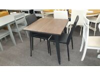 Julian Bowen Grafton Square Table & 2 Jazz Stacking Chairs Can Deliver
