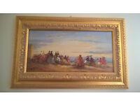 Original Francis Cristaux oil on canvas