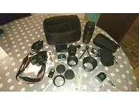 Canon eos m mirrorless + lenses + loads of extras