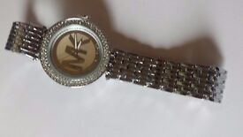 SILVER DIAMOND MK WATCH