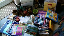Two small boxes of mixed car boot items.