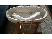 Moses basket with a rocking stand