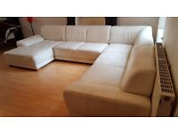 Large white sofa for sale ....fairly good condition.