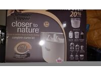Tommee tippee complete starter set. Brand new