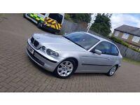 2002 (51) BMW 3 SERIES E46 318ti SE 3DR COMPACT 2.0L PETROL MANUAL MOT JULY 2017 HPI CLEAR