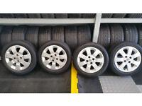 Vauxhall Genuine 15 alloy wheels + 4 x tyres 185 55 15