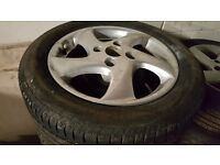 """15"""" Alloy wheel for peageot 206 very good condition set of four"""