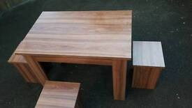 Table and four stools for sale