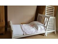 John Lewis Lasko Cot Bed & Mattress - White
