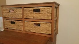 4 WOVEN WOODEN DRAWERS- PICK UP NOTTING HILL