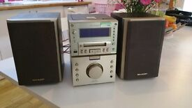 Excellent condition Sharp cd stereo 60 watts