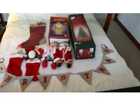 Job Lot of vintage and modern Christmas tree, Santa, stockings, animated characters etc. REDUCED!