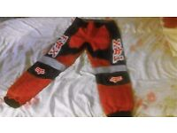 "Fox Racing Protective Motorbike Trousers, (Waist 34"") Good Condition - £20 Bradford on Avon"