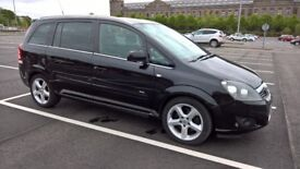 Vauxhall Zafira (2011) 1.7 Diesel Navi Bluetooth Black (7 Seater) MOT June 2019