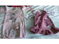 Baby girls bambi and thumper outfits 3-6 months