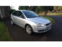 Ford Focus 1.6 Style 5dr in silver only 78,989 miles with full service history mot until.21/10/2017
