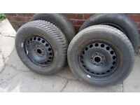 AUDI A4 B6 WINTER WHEELS AND TYRES. FIT OTHERS. DELIVERY POSSIBLE.