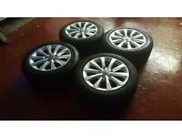 "17"" Genuine Like New Audi A6 Alloys Wheels 5x112 & Great Goodyear Tyres"
