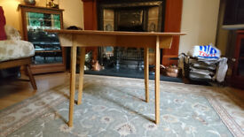 small occasional table, mid century, scandinavian style, solid wood, retro