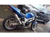 Suzuki sv 650 1999 street fighter blue