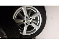 16 inch vw alloys with 4 as new tyres will fit audi seat not 14 15 17 18 inch