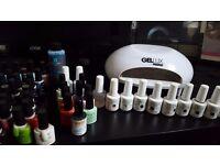 Gel nail kit and lamp