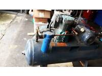 240v 14cfm air compressor 3hp long motor
