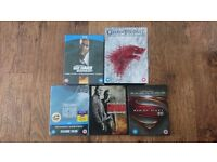 Blu-rays movies set!! Die hard quadrology, game of thrones, man of steel, capitan philips!!!