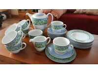 Wedgwood Watercolour 8 piece coffee set