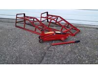 HYDRAULIC TROLLEY JACK POWER LIFT UP TO 2 TONNE