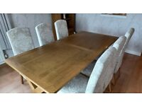 NEXT Oak Veneer Dining Room Table & Chairs