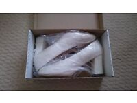 Ivory Satin Wedding/Bridal Shoes by Linton. Size 6.5.