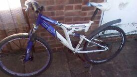 Mountian bike Dunloo, new break pads and bottom bracket bearing. It will break well for long.