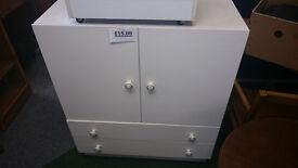 Large white storage cupboard unit