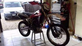 husqvarna te250 2008 motorcross/enduro road registered,10 months mot,p/x cheaper 250 2 stroke ect