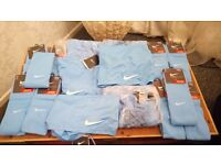 Nike blue football shorts and socks