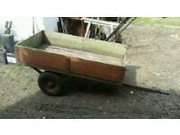 Small trailer For ride on mower or compact